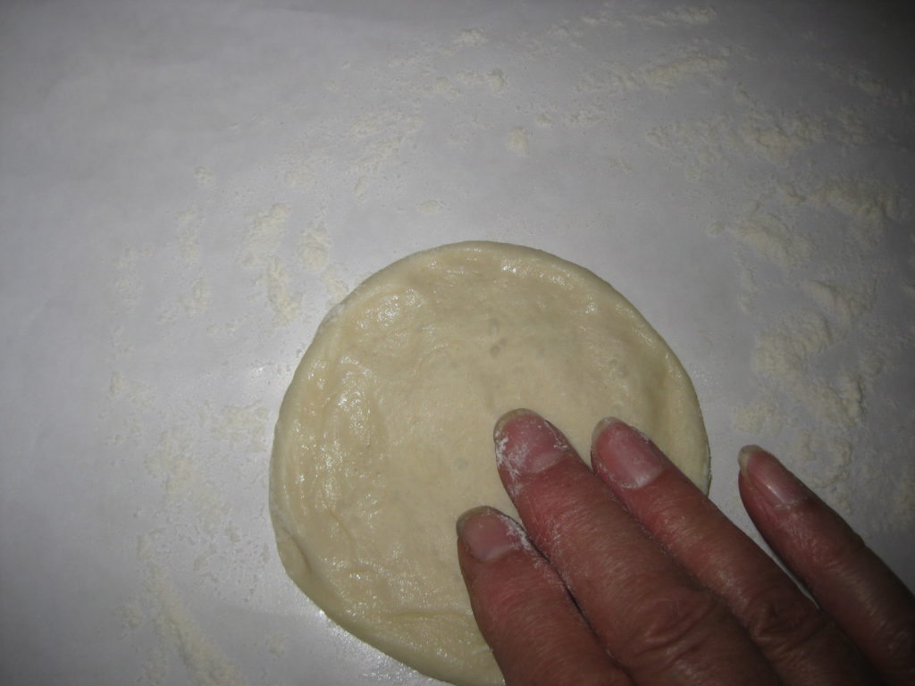 flattened dough