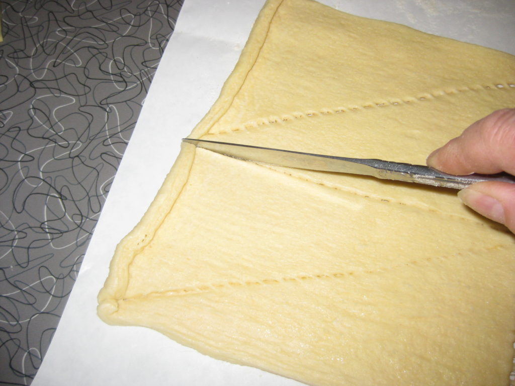 cut dough