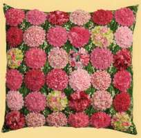 Ruched Blossom Pillows